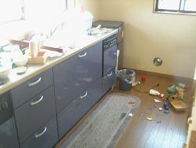 地震那須台所