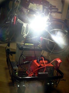パワーアップパーツLED電球発光状況