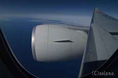 B777-300、エンジンと翼