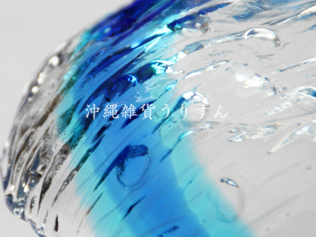 琉球ガラス,小鉢,皿,青