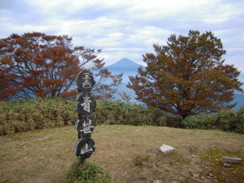 青笹山頂下見