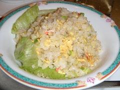12桃華楼蟹とレタスの炒飯