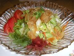 12桃華楼クラゲ入りサラダ