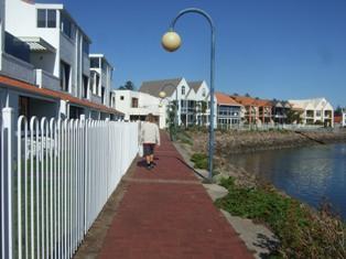 along side the gulf point marina