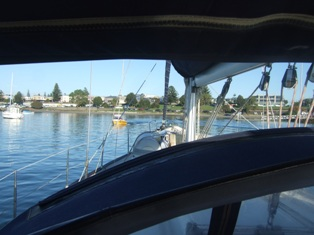 from the mooring
