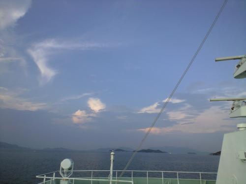 小豆島が見えてきた