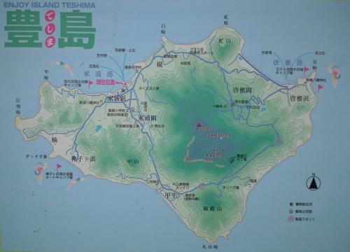 豊島の地図