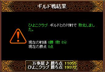 Gv結果@ひよこ戦