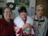 成人の日 おじいちゃん&おばあちゃんと