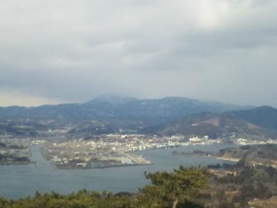 亀山山頂から見た気仙沼湾