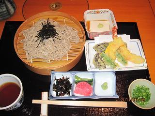 天ぷら蕎麦定食
