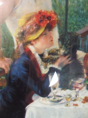 船上の食卓の女の子