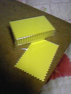 ナフコで買った店頭POP用黄色カード。
