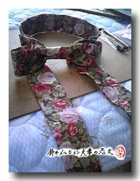 嫁の衣装用ブレスレットチョーカー。色違いの同柄でも製作予定。