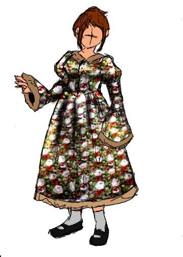 嫁デザイン・お洋服計画書。レトロな今風を目指すつもり。