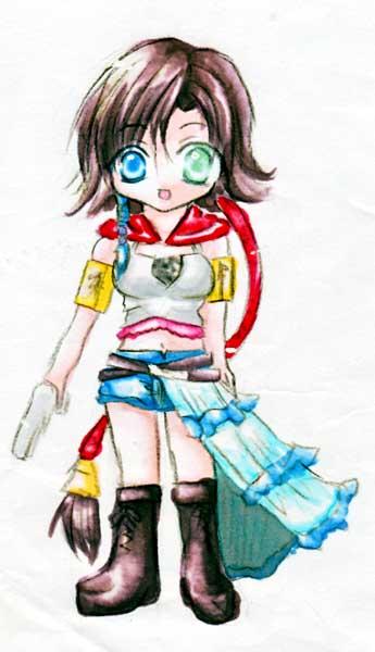 嫁画・高1くらいのとき描いたユウナさん。3年前とはずいぶん画風が・・・