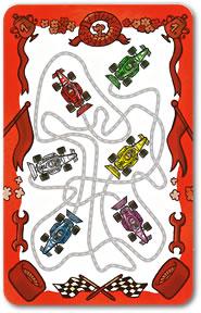 フルスロットル・カードゲーム:難しい赤色カード