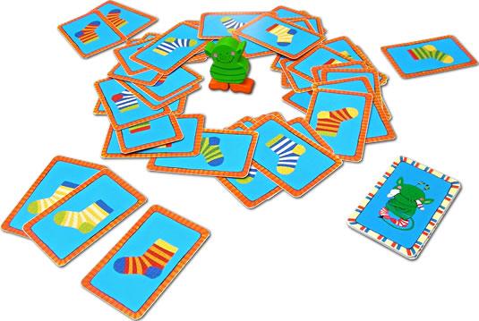 ソックスモンスター・カードゲーム:展示用写真