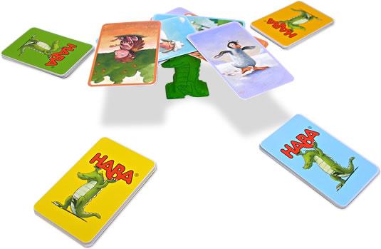 ワニに乗る?カードゲーム:展示用写真