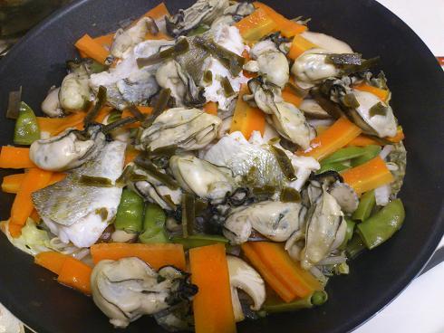 牡蠣の蒸し煮(出来上がり)