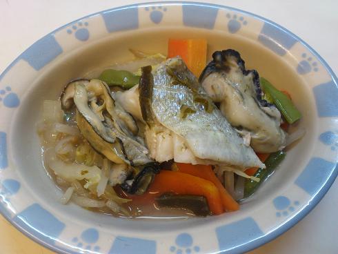 牡蠣の蒸し煮(わんこ用)