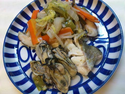 牡蠣の蒸し煮(飼い主用)