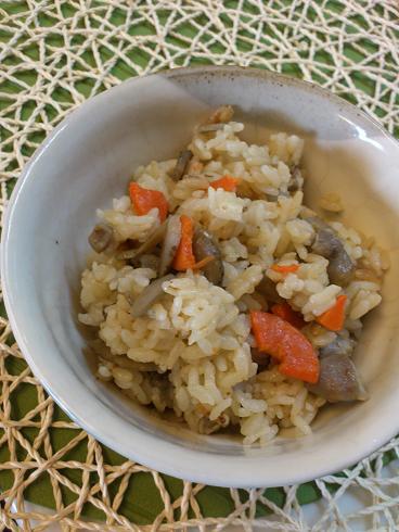 鶏とごぼうの炊き込みご飯(ヒト用)