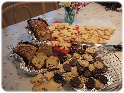 パウンドケーキにクッキー♪