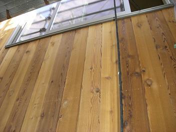 木質サイディング施工
