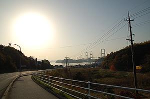 来島海峡大橋まで後わずか
