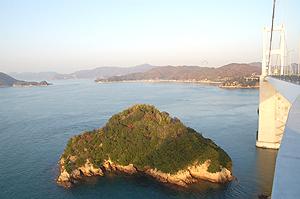 来島海峡大橋の眺め