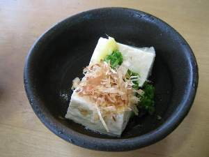 うぐいす茶屋の豆腐