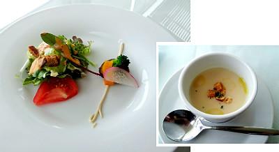 ラウの前菜とスープ