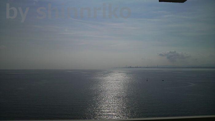 別府湾の朝、最後の日キラキラと海が光る