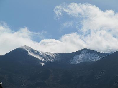 十勝岳山頂部