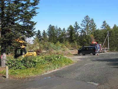 青い池駐車場工事開始