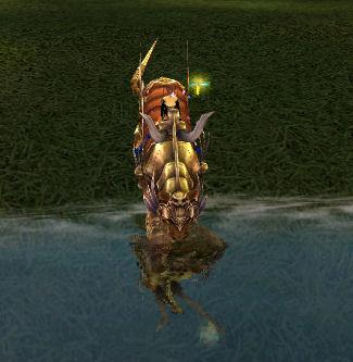 水面に映る雷豹