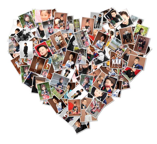 七五三 入学式 子供写真 コラージュ Shape Collage