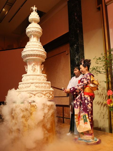 ウェディングケーキ 振袖 結婚式
