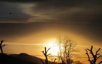 4月12日夕陽