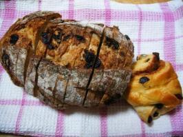 フィンランドのドライフルーツ&ナッツパンとシナモンロール