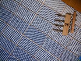 色糸効果のテーブルクロス