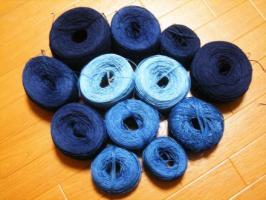Nさん藍染麻糸