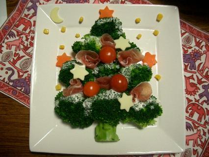 ブロッコリーのクリスマスツリー♪