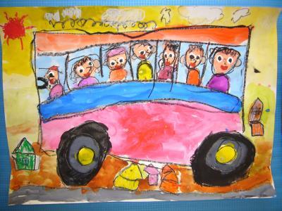 ゆきの絵(バス)