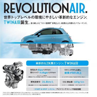 革新的な新型2気筒エンジン FIAT TwinAirnA