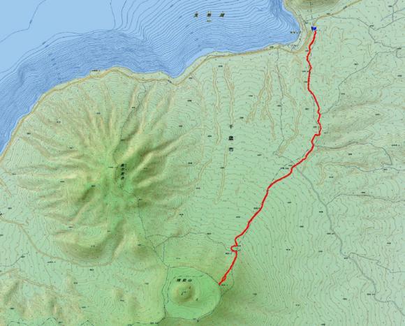 樽前山  map2