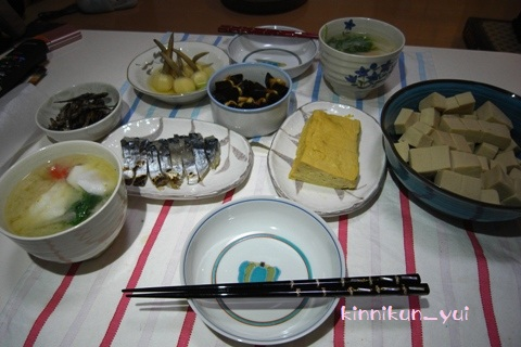 2012年元日の、「なかじま家の食卓」
