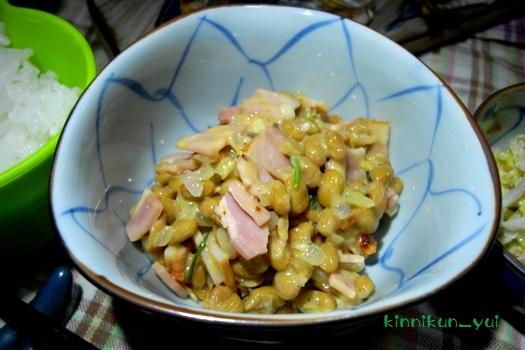 ベーコンオニオン納豆