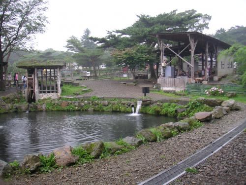 マス釣りの池